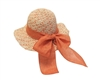 wholesale girls raffia straw bowsun hat