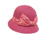 wholesale girl's fuchsia bucket hat  printed bow