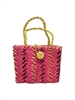 wholesale kids multicolor straw purse