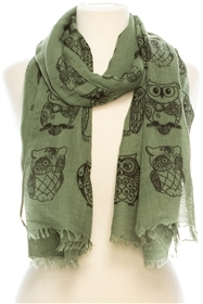 Wholesale Owl Cotton Scarf