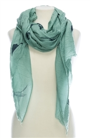 Wholesale Cotton Summer Scarves and Shawls - Hummingbird Print