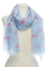 Wholesale Cotton Scarves for Summer - Flamingos