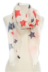 Wholesale Cotton Summer Scarves - Stars
