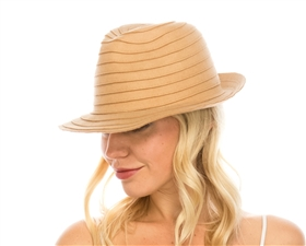 wholesale felt fedoras womens dress hats - spiral