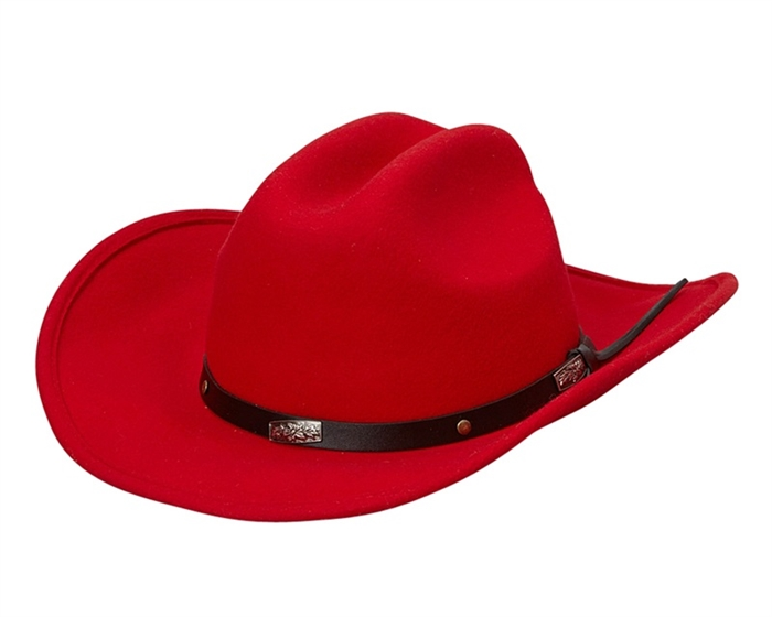 39a80a81965d 2144 Red Felt Cowboy Hat