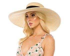 wholesale wide brim sun hats 6 inch brim straw beach hat