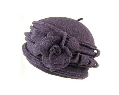 wholesale lambswool pillbox hat fancy flower