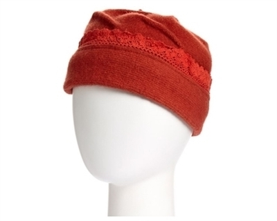 wholesale lambswool beanie lace edge