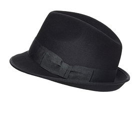 wholesale classic black fedora hats - wool felt black fedoras