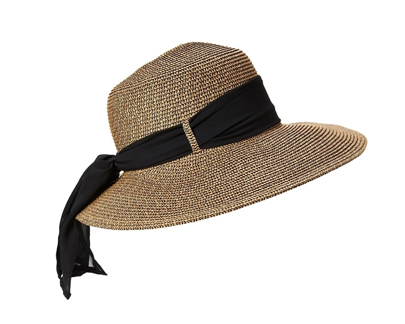 SKU  221-1. Classic ladies  sun hats. Asymmetrical lampshade straw hat ... 3d25236688a3