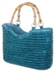 wholesale straw handbags purses - bamboo handles bag