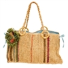 wholesale crochet raffia handbag  flower