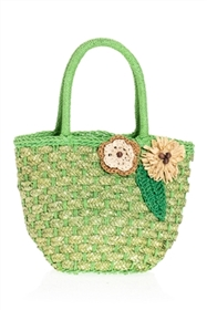 bulk straw mini bags - wholesale straw purses with flowers
