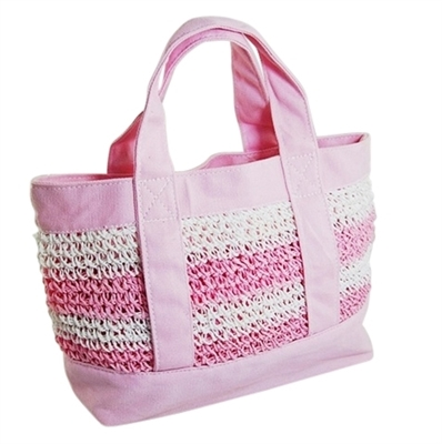 wholesale mini bags - pink straw bag