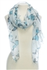 Wholesale Cotton Summer Scarves - Butterfly with Hand Pulled Fringe