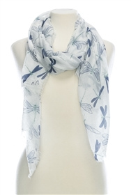 Wholesale Cotton Summer Scarves - Dragonfly
