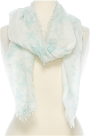 Wholesale Cotton Summer Scarves - Starfish Pattern