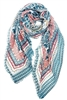 Wholesale Cotton Summer Scarves -Elephants