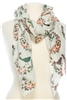 Wholesale Cotton Summer Scarves -  Flowers & Bird