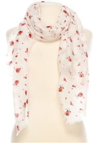 Wholesale Cotton Summer Scarves - Ladybug