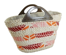 wholesale tropical print cornhusk handbag