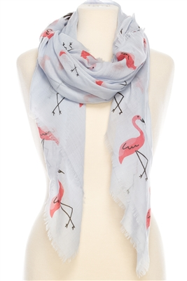 Wholesale Cotton Summer Scarves - Flamingo