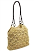 2260 Crochet Straw Bag with Leather Handles