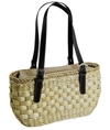 wholesale woven cornhusk shoulder bag
