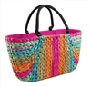 wholesale rainbow cornhusk handbag