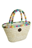 wholesale cornhusk handbag w rainbow trim
