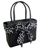 wholesale straw handbag  animal print sash