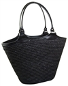 wholesale black beach bags straw totes