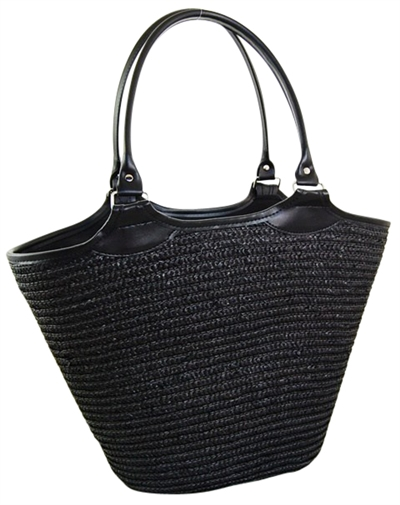 c92c214d522bd wholesale black beach bags straw totes