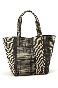 wholesale straw print tote bags - freestyle lines