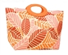 wholesale large toyo straw tote bags leaf print