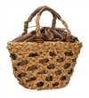 wholesale water hyacinth bag open weave