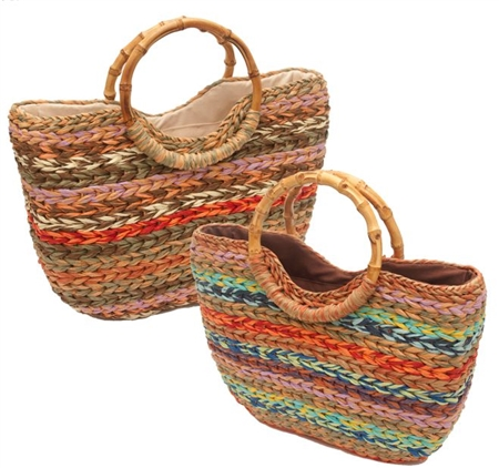 wholesale multicolor straw bag