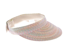 wholesale straw sun visors velcro back