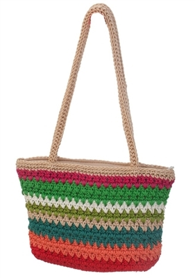 wholesale nylon crochet purse