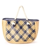 wholesale patterned seagrass handbag  rope handles