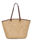 wholesale seagrass straw beach tote bags with color trim