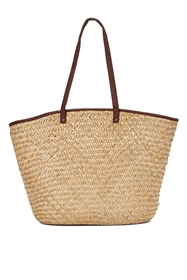 wholesale seagrass tote bags color trim