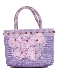 wholesale straw handbags purses ribbon flowers