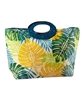 wholesale tropical print toyo tote  wood handles