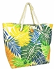 wholesale beach bags toyo straw tote bag tropical print