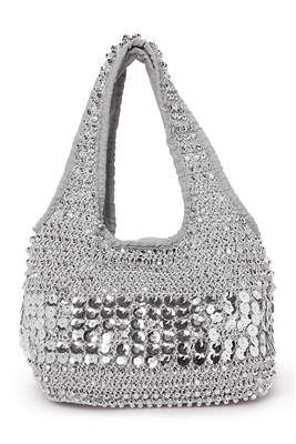 wholesale sparkly beaded crochet purse