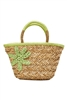 wholesale seagrass basket  flower embroidery