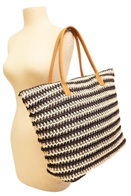 wholesale straw tote bags - crochet beach bag