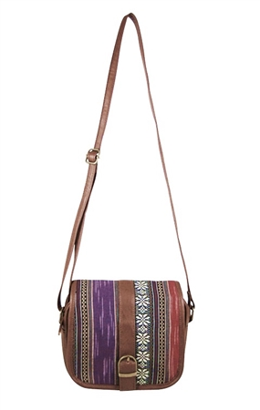 wholesale tribal print leather purse