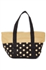 wholesale canvas tote bag polka dots